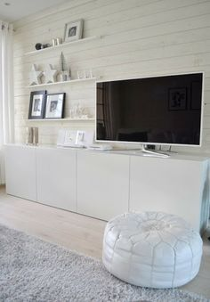 -our exact floors. Living Room Wall Units, Ikea Living Room, Living Room Storage, Living Room Designs, Muebles Living, Natural Home Decor, Minimalist Home, Home Decor Bedroom, Apartment Living