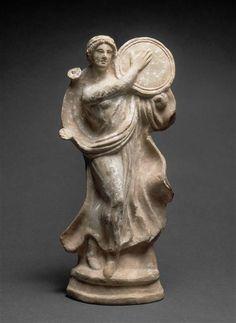 Eternal Little Goddess Ancient Music, Ancient Greek Art, Ancient Romans, Ancient Greece, Terracota, Shaman Woman, Drums Art, Ancient Goddesses, Art Antique