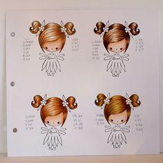 * Hair Colours Bovenste 2 copic E50, 51, 53, 55 en nr. E50, 53, 55 57