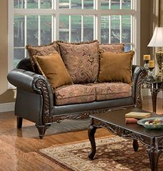 Chelsea Home Furniture Arlene Loveseat Silas RaisinBiCast Brown *** For more information, visit image link.
