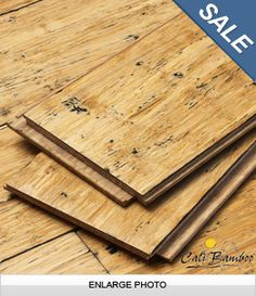 Fossilized Distressed Natural Click Bamboo Flooring Is Perfect For - Snap and click wood flooring