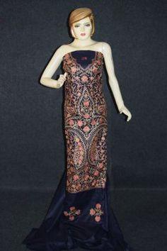 Thread Embr Kashmiri Semi Pashmina Salwar Suit Fabric C0623