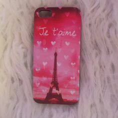 """iPhone 5 case """"Je t'aime"""" iPhone 5 case. Never used. Bought it in the wrong size Accessories Phone Cases"""