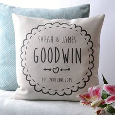 I've just found Personalised Couple Cushion Cover. Personalised Couple Cushion Cover. £29.95
