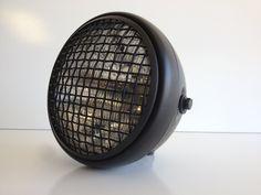 "Amazon.com: Wire Mesh 7.75"" Matte Black Motorcycle Headlight Cafe Bratstyle Bobber Racer: Automotive"