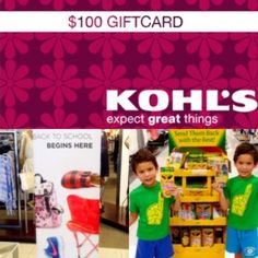 Back-to-School Shopping with a Kohl's $100 Gift Card Giveaway