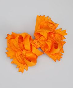 Take a look at this Orange Princess Bow Clip by Too Too Cute on #zulily today!