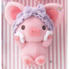 """Amazon.com: Xan-X Piggy Girl Plush (8"""") - Type-D. Imported from Japan.: Toys & Games"""