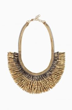 Accessorize with a striking gold bib necklace with feather accents from Stella & Dot. Find fashion necklaces, trendy necklaces, pendants, chokers & more.