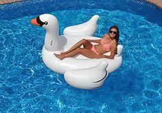 Riesiger aufblasbarer Schwan Luftmatratzen 190cm. Aufblasbarer Schwan Pool Floß - Schwimmtier Luftmatratze Ananas Pool Party Schwimmgerät Sommerspielzeug für Erwachsene am Pool - Sommer Floatie -  Das aufblasbare Schwan ist 190cm * 190cm wenn sie aufgeblasen Die aufblasbare Schwan Luftmatratze hat schnelle Ventile in den Hauptteil für schnelle Inflation . Kühler muss Pool schwimmen haben Schwan Luftbett