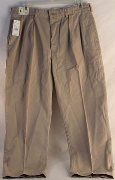 POLO RALPH LAUREN Mens Pants Khaki Chino Pleated Front Andrew Size 38 x 30 NWT #PoloRalphLauren #KhakisChinos