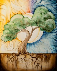 35 Stunning and Beautiful Tree Paintings for your inspiration tree painting watercolour by starwooda Inspiration Art, Tree Art, Watercolor Paintings, Tree Paintings, Tree Of Life Painting, Tree Of Life Artwork, Painting Illustrations, Painting Prints, Amazing Art
