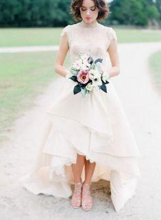 23 Stunning High Neckline Wedding Dresses - Puck Wedding
