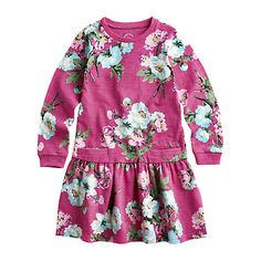 Buy Little Joule Girls' Bangles Floral Jersey Dress, Pink Online at johnlewis.com