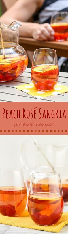 This refreshing Peach Rosé Sangria keeps you cool on even the warmest summer day.