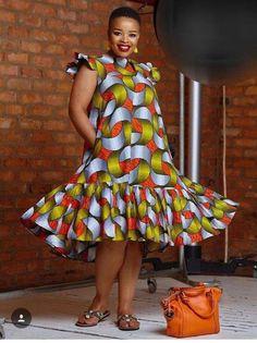 5 shweshwe print 2019 For Black Teens - shweshwe dresses African Party Dresses, Short African Dresses, Latest African Fashion Dresses, African Print Dresses, African Print Fashion, Africa Fashion, African Fashion Traditional, Moda Afro, African Print Dress Designs