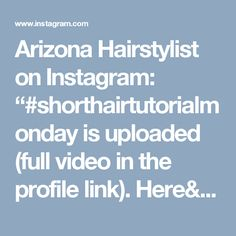 "Arizona Hairstylist on Instagram: ""#shorthairtutorialmonday is uploaded (full video in the profile  link). Here's the first #instavid #instapeek. #fauxbraid #mohawkfauxbraid…"""