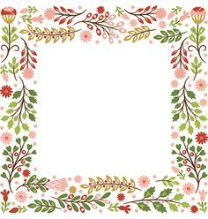 Floral frame vector by Lenlis on VectorStock®