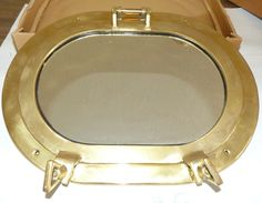 Vintage New Solid Brass Rare Shape Oval Porthole Maritime Mirror x Nautical Room Decor, Porthole Mirror, Nautical Marine, Solid Brass, Antique Brass, Mirrors, Shape, Vintage, Ebay