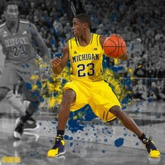Michigan Basketball takes on Stanford at the Brooklyn Hoops Holiday Invitational tonight! LET'S GO BLUE! U Of M Basketball, Basketball Legends, Basketball Uniforms, College Basketball, Michigan Athletics, University Of Michigan, Michigan Wolverines, Michigan Go Blue, Football Pictures