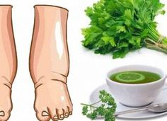Parsley Tea, Water Retention Remedies, Natural Diuretic, Foot Remedies, Homemade Tea, Unhealthy Diet, Natural Health Remedies, Herbal Remedies, How To Make Tea