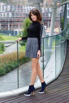 Fusta casual scurta clos gri inchis Mini Skirts, Ballet Skirt, Instagram Posts, Casual, Style, Fashion, Swag, Moda, Tutu