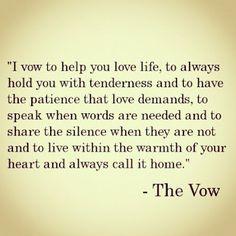 I vow...