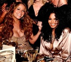 Mariah Carey and Janet Jackson. Two legends! Love it!