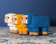 """Crochet Pattern of Sheep from """"Minecraft"""" (Amigurumi tutorial PDF file). Or could do with needlepoint canvas - Minecraft Crochet Patterns, Minecraft Pattern, Crochet Patterns Amigurumi, Crochet Dolls, Amigurumi Tutorial, Crochet Diy, Crochet Geek, Crochet Crafts, Crochet Projects"""