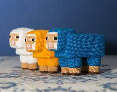 Crochet Pattern minecraft Sheep (Amigurumi tutorial PDF file)