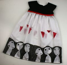 cfa3fbeebc2d Amelie and Atticus  Hand printed Princess Mononoke dress for Sew Geeky  -  So beautiful!