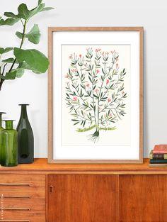 AZALEA árbol genealógico, 3 o 4 generaciones - PERSONAL - 13 X 19