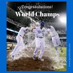 """Congrats #worldchamps  #kansascityroyals ! @sportsbarker #sportsbarker #baseball #worldseries #royals #congratulations #congrats #kansascity"" Photo taken by @sportsbarker on Instagram, pinned via the InstaPin iOS App! http://www.instapinapp.com (11/02/2015)"