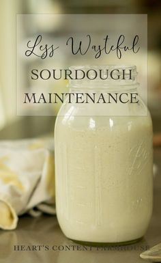 Are you struggling to maintain a sourdough starter in the fridge. but you feel like you are wasting tons of flour feeding your starter on the counter? Try this less wasteful sourdough maintenance method. Sourdough Starter Discard Recipe, Dough Starter Recipe, Yeast Starter, Sourdough Recipes, Starter Recipes, Sour Dough Starter, Bread Recipes, Sourdough Biscuits, No Yeast Bread