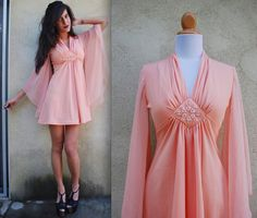 Vintage 60s 70s Cotton Candy Dream Queen Angel by littlelightVTG, $84.00