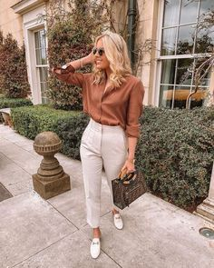Smart Ways to Wear Blouse and Pants for Work - Outfit Trends - Combin Summer Work Outfits, Casual Work Outfits, Business Casual Outfits, Professional Outfits, Office Outfits, Classy Outfits, Spring Outfits, Cute Outfits, Work Looks