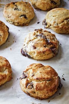 Why not thank Mom this Mother's Day with a batch of homemade Chocolate Pecan Scones? Or better yet, homemade scones and a signed copy of… Brunch Recipes, Sweet Recipes, Breakfast Recipes, Dessert Recipes, Baking Recipes, Cookie Recipes, Scone Recipes, Chocolate Chip Shortbread Cookies, Pecan Cookies