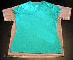 converting a unisex tech shirt to a women's cut tech shirt