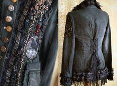 Steampunk jacket extravagant reworked vintage by FleursBoheme