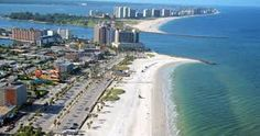 Aerial view of #ClearwaterBeach.