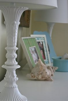 DIY::Painting Glass Lamps...Jonathon Adler Style! I used this for the lamps on our the bedside tables.. Easy & look Fabulous! !done this several times with amazing results !