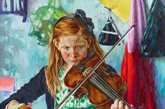 Xenia Hausner oil on DIBOND® #dibond #art