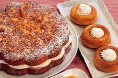 Torta margherita con crema allo yogurt Doughnut, Tiramisu, Camembert Cheese, Yogurt, Ethnic Recipes, Desserts, Food, Cream, Tailgate Desserts