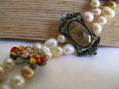 Lady Fernwood's Jewelry box  old glamour by myheartscontent, $35.00