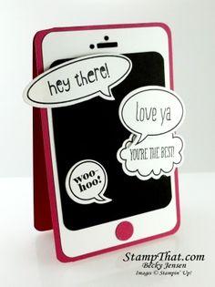 Echt digitaal!: de Smartphone-Kaart! #stampinup
