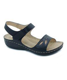dabb0574ebd68 Black Cutout Sandal  zulilyfinds Ladies Slippers