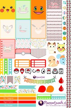 Pokemon Go Printable Stickers by AnacarLilian.deviantart.com on @DeviantArt