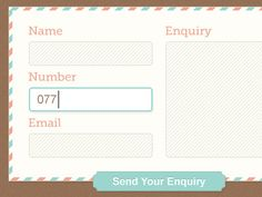 Simple Contact Form by FHOKE