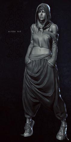 Alissa _ WIP, Duncan Fraser on ArtStation at… 3d Model Character, Female Character Design, Character Modeling, Character Concept, Character Art, Concept Art, 3d Modeling, Zbrush Character, Aztecas Art