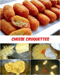 Cheese Croquettes (very easy) Cheese – 300g Egg – 1 pc. Flour – 30g ...